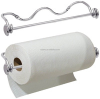 Chrome Wall Mount Paper Towel Holder Kitchen Decor Storage Metal Rack Bathroom