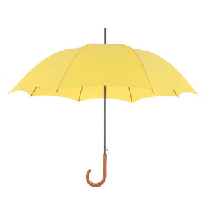 Full-Color Yellow Auto Open Straight Umbrella For Advertising Events