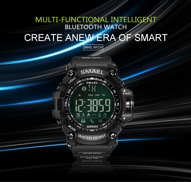 New design 100% high quality multifunction SMAEL bluetooth smart watch