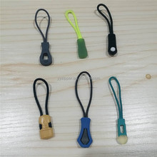 Custom silicon zip pull pvc plastic rubber rits puller voor kleding jacket