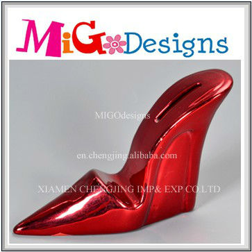 Ceramic High Heel Shoe Bank