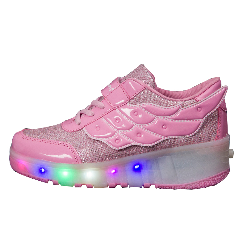 2017 new models Kids Led Light Shoes With Roller