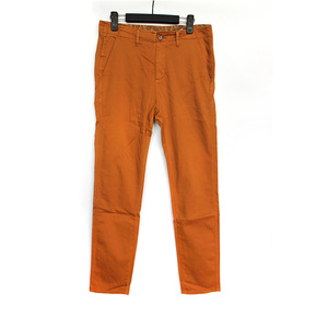 stretch woven men trousers garment over dyed pants light brown color slim fit pants men with print lining welt back pocket pants