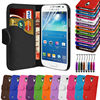Leather Wallet Pouch Flip Case Cover For SAMSUNG GALAXY S4 mini i9190--Laudtec