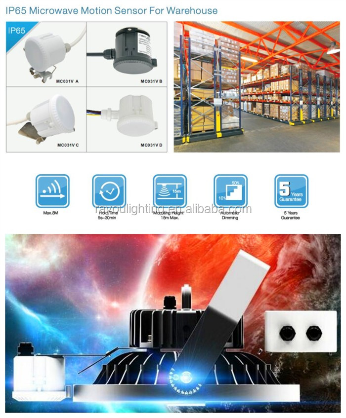 ip65-microwave-sensor-for-ufo-led-high-bay-light-warehouse-using