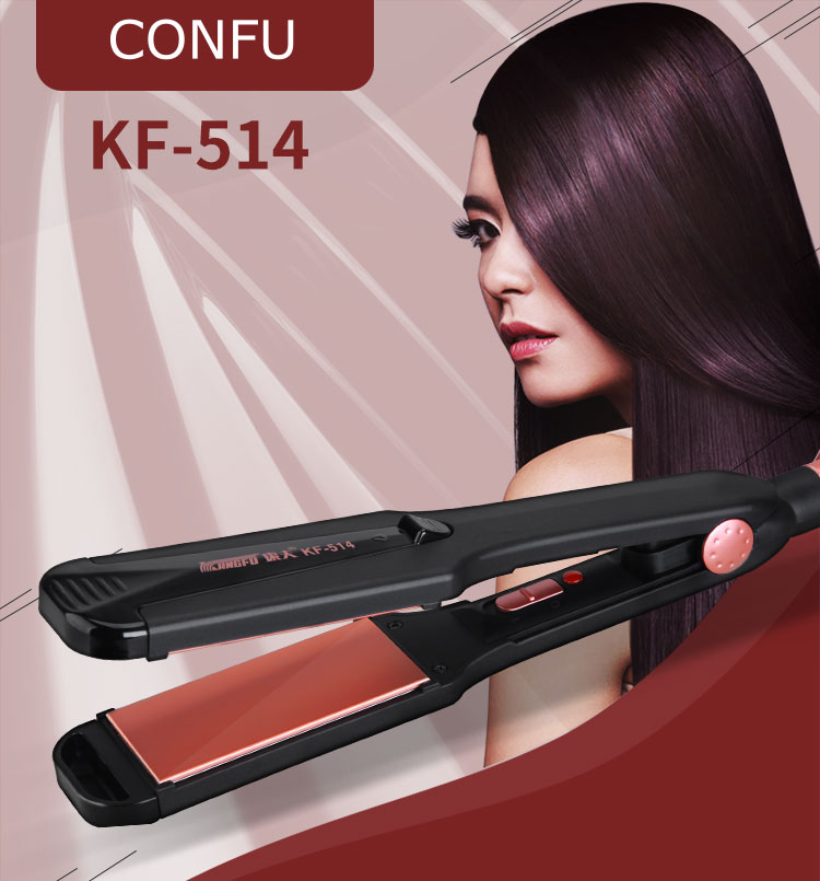 Professional 3 In 1 Flat Iron Salon Wide Plates Hair Straightener