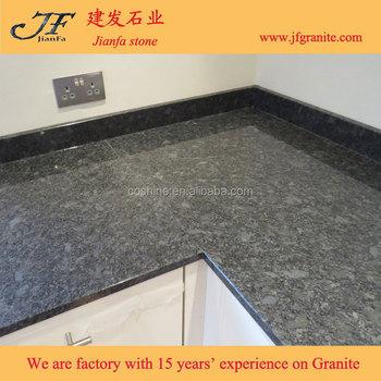 2017 Grosshandel Stahl Grau Granit Kuchenarbeitsplatte Gunstigen