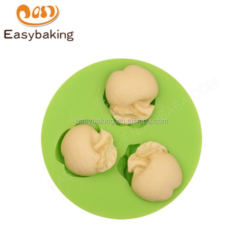 ES-4504  Apple Shape Silicone Fondant Cake Decorating Mold.jpg
