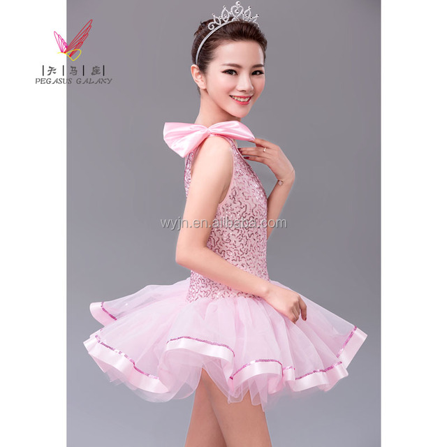 school girl dance dress costumes, leotard dance ballet dress