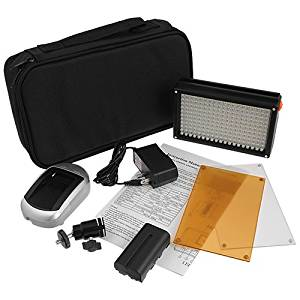 Fotodiox Pro LED 209A, Photo / Video Dimmable LED Light Kit, 1x Sony type Battery, Color Temperature 5600K, + Tungsten Gel, Fits Olympus E5, E-600, E-450, E620 Cameras