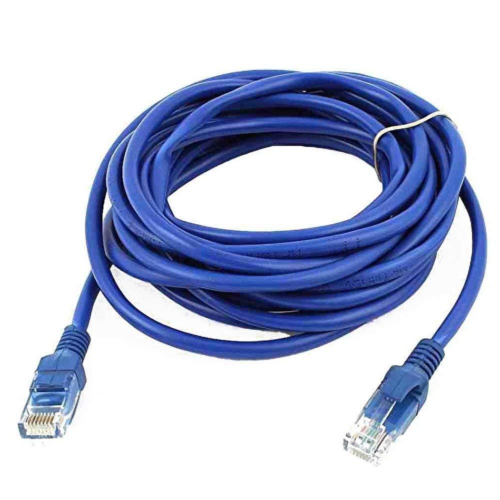 SODIAL(R) RJ45 8P8C Male to Male Plug CAT5E LAN Ethernet Network Cable 4M Blue