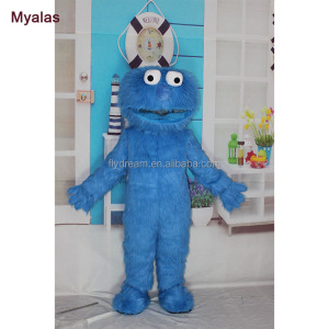 sesame street mascot costume, cartoon character mascot costumes china factory in dongguan city