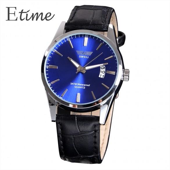 Часы мужчины роскошь марка военный спорт до запястья часы мужчины кварцевый часы дата кожа часы 58