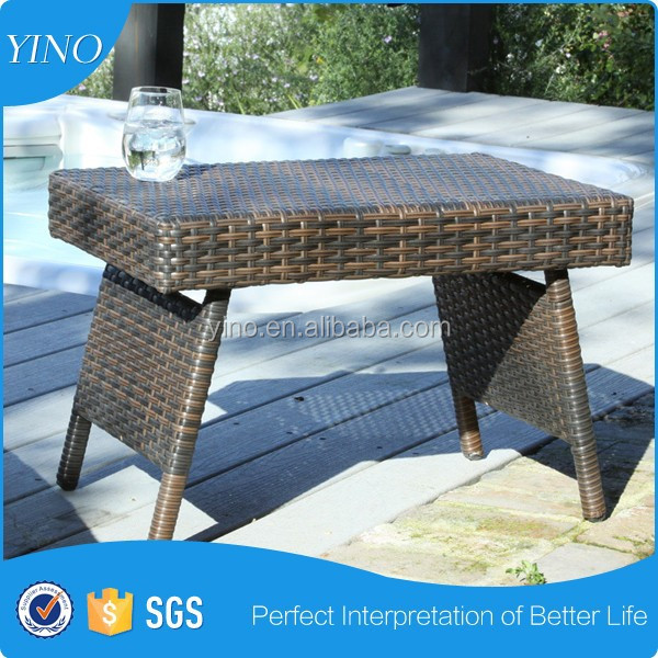 Outdoor Patio Furniture Folding Wicker Table RZ4015