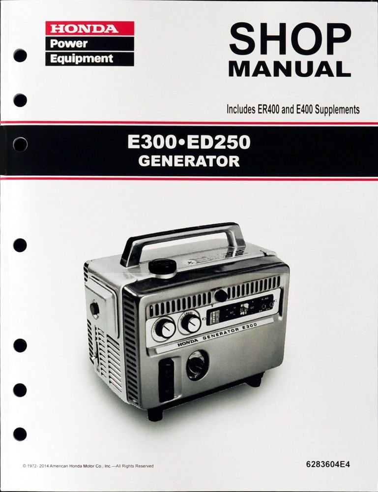 Honda E300 E400 ED250 ER400 Generator Service Repair Shop Manual