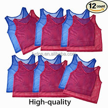 Nylon Mesh Scrimmage Team Practice Vests Pinnies Jerseys for Children Youth Sports Basketball, Soccer, Football, Volleyball (12