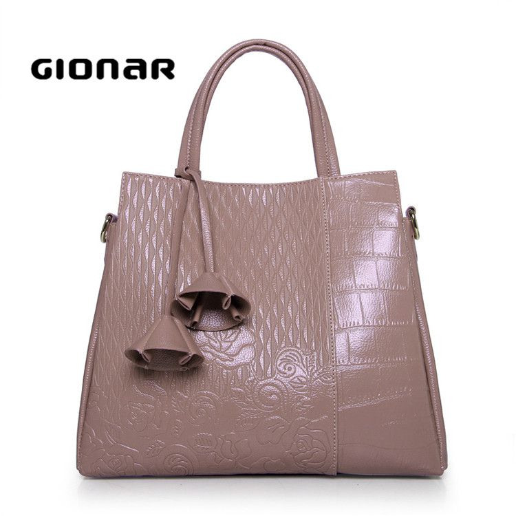 The New Design Designer Chic Flower Overall Embossed Ladies Bag Purses