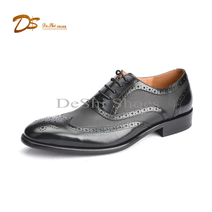 Italy men brogue leather formal made dress oxford hand shoes custom 1wrtUq01