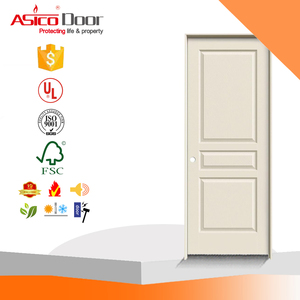Alibaba China Market Molded Textured 3-Panel Square Primed White Hollow Core Composite Single Prehung Interior Door