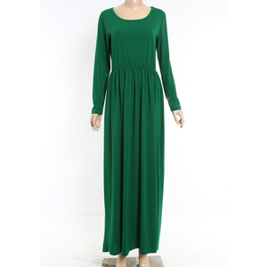 Maxi Long Sleeve Muslim Women Clothing Female Dress Guangzhou Elegent long dress