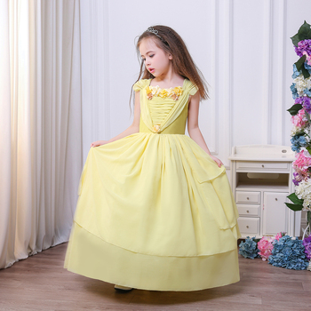Princess Belle Yellow Dress Cosplay Halloween Princess Costumes Children Rapunzel Cinderella Sleeping Beauty Sofia Party Dress  sc 1 st  Alibaba & Princess Belle Yellow Dress Cosplay Halloween Princess Costumes ...
