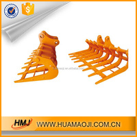 Mini excavator rake bucket used for sort out and seed