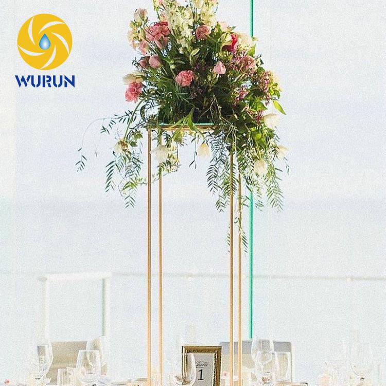 Modern Metal Iron Table Standing Square Wedding Decorative Flower ...