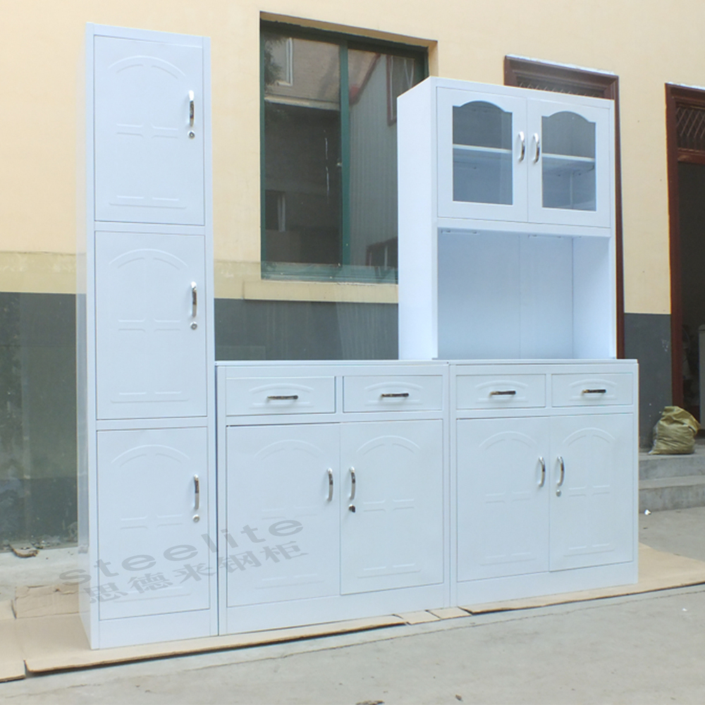 Luoyang steelite modern luxury white kitchen cabinets with for White solid wood kitchen cabinets