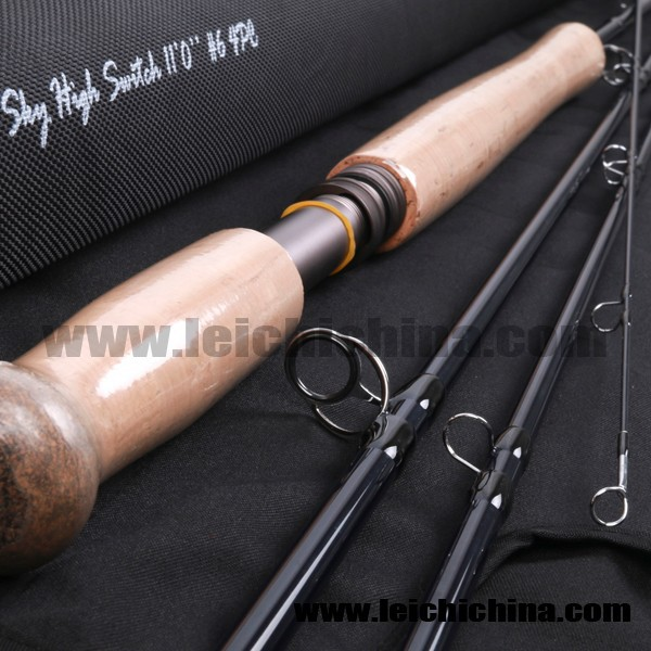 46T Toray carbon 11ft 6 weight switch fly fishing rod
