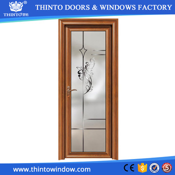 New Design Wooden Color Waterproof Aluminum Glass Bathroom Doors - Bathroom doors waterproof