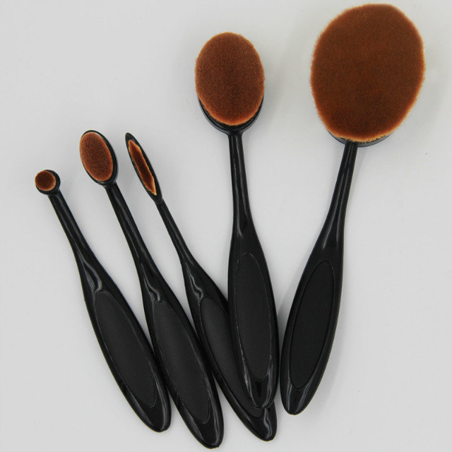 AIDEN- New Arrival 5 Pcs Oval Makeup Brush Set, Oval Toothbrush Shape Makeup Brush