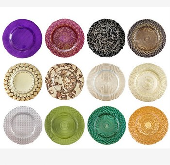 gold rimmed dinner plates glass ided dinner charger plates beaded  sc 1 st  Alibaba Wholesale & Gold Rimmed Dinner Plates Glass Divided Dinner Charger Plates Beaded ...