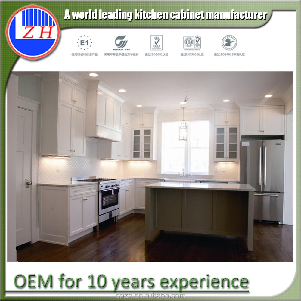 Modern glass door kitchen pantry designs rta kitchen cabinet