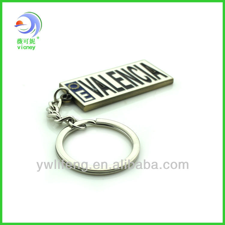 Fastion Valencia souvenir key chain square trendy metal bottle opener