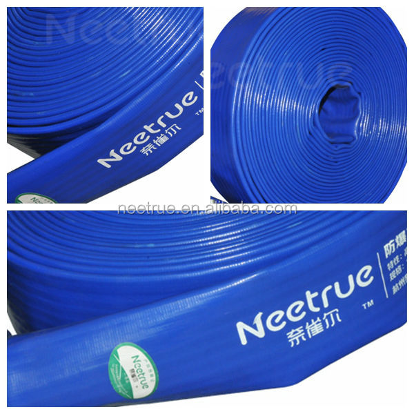 Industrial pump pvc reinforced water discharge lay flat hose