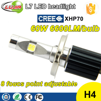 Copper Belt motor L7 H4 headlight bulb scooter , fog light bulb XHP70 kit led h4 headlight