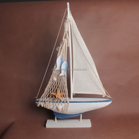new fashion wood sailing boat handicrafts for table decoration