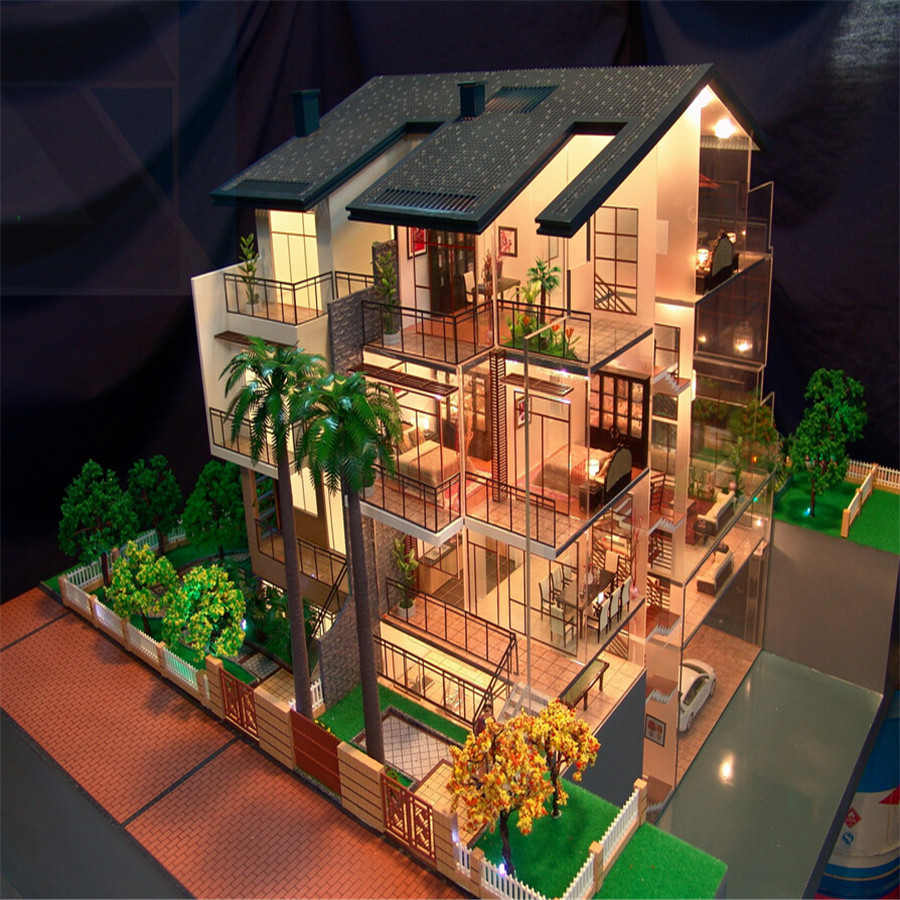 Villa House Model With Furniture,Miniature Scale Model For House Plan - Buy  Miniature Houses For Sale,Building Model,Architectural Models Product on