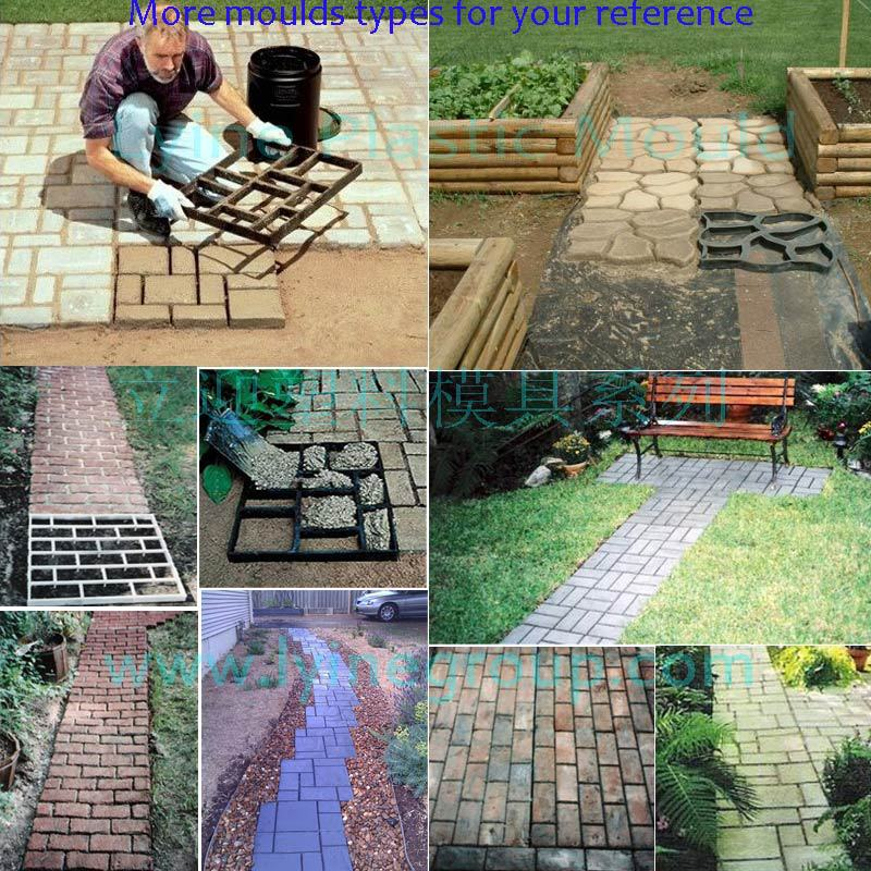 Driveway paving brick patio concrete slabs path garden walk maker cheap and factory price diy pavement molds solutioingenieria Image collections