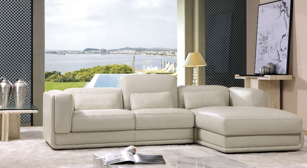 2014 New Post Modern Sectional Genuine Leather Sofa