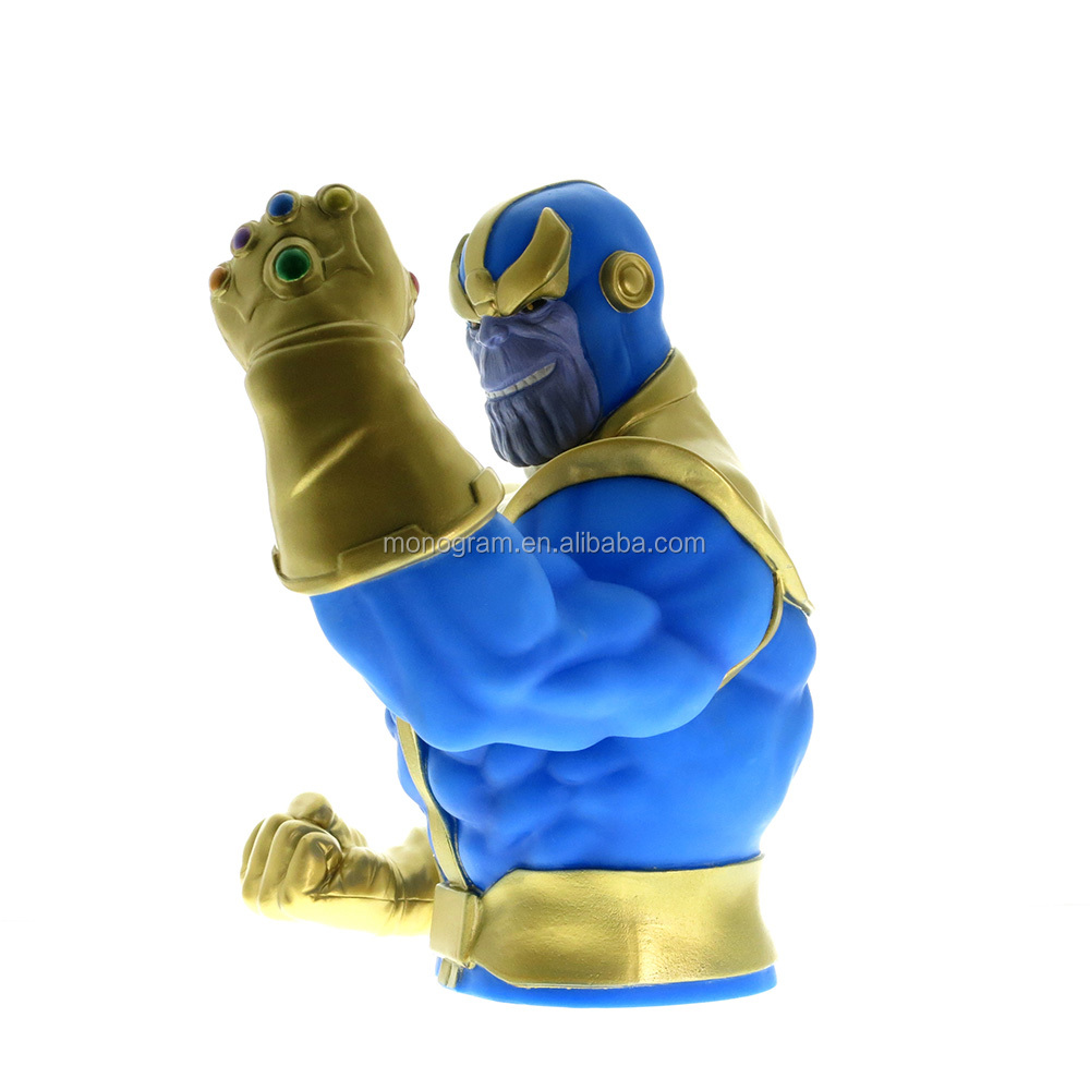 PROMOTIONAL PRICE STRONG PLASTIC 3D CARTOON CHARACTER  MONEY BOX MARVEL LEGENDS DC COMICS BANK THANOS FOR SPORTS EVENT