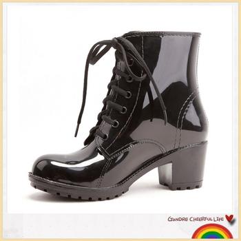 1aeb2bc7dfe High Heels Women Rain Boots Jelly Shoes