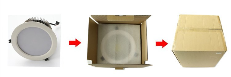 100w led downlight package