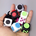 2 2cm Mini Fidget Cube Puzzles Magic Cubes With Rope Gift Relieves Stress Anxiety Reliever Children