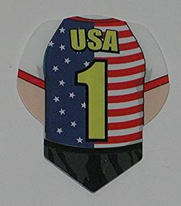 US Darts - 2 sets (6 flights) Xtra Strong Ruthless TEAM AMERICA USA US Dart Flights - Unique Shape