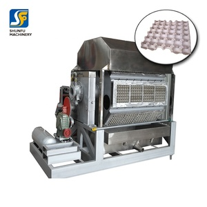 Waste carton and paper recycle egg tray making machine