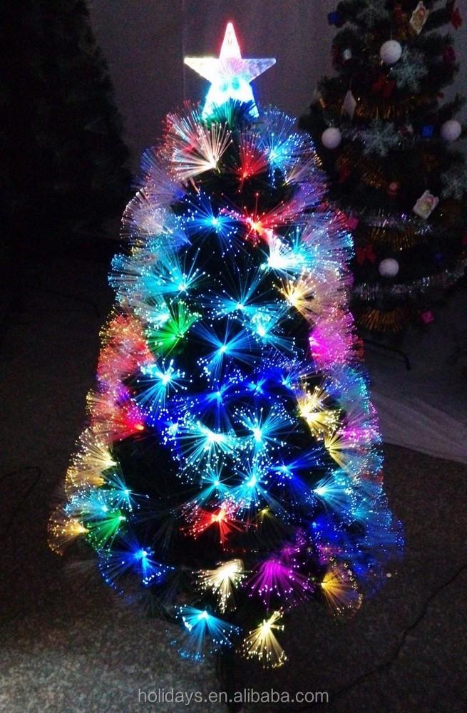 Number pies de navidad brillante de lujo del color - Arbol navidad led ...