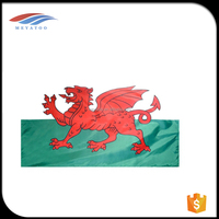 polyester printing country Wales flag for banners