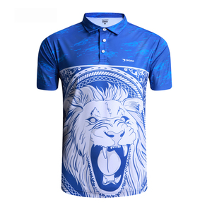 Custom sublimation printing logo design your own 100% polyester 3D cut men polo t shirt