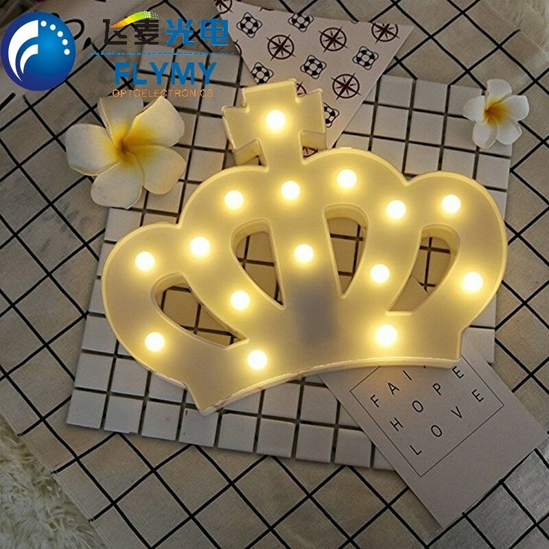 Plastic led letter giraffe unicorn moon cloud marquee light for gifts and home decoration